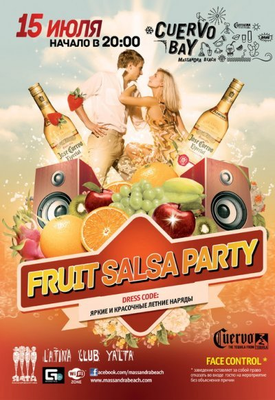 Salsa Вечеринка на Cuervo Bay: постер мероприятия